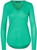 Ralph Lauren Petite Silk-Blend V-Neck Sweater