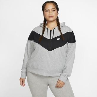 Nike Women's 1/2-Zip Top (Plus Size Sportswear Heritage