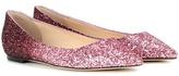 Jimmy Choo Romy Glitter Ballerinas