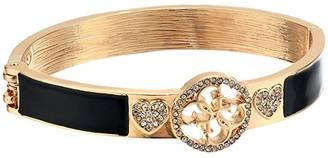 GUESS Hinge Bangle with Logo (Gold/Jet) Bracelet