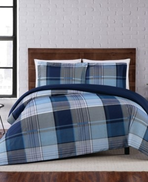 Truly Soft Trey Plaid Full/Queen Duvet Set Bedding