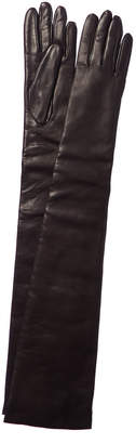Portolano Leather Cashmere-Lined Long Glove