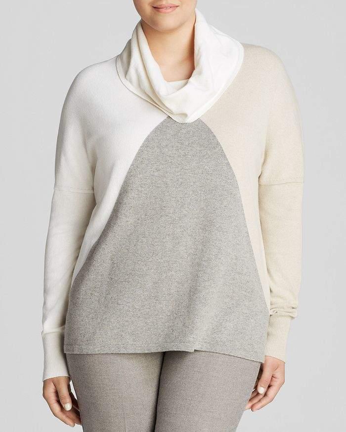 Marina Rinaldi Plus Color Block Sweater