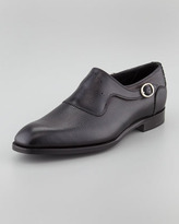 Barker Black Euston Monk-Strap Loafer, Black
