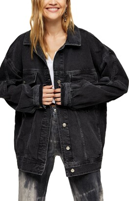 Topshop Oversize Dad Denim Jacket