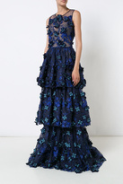 Marchesa Embroidered Evening Gown