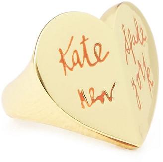 Kate Spade Heritage Spade Embossed Gold-tone Ring