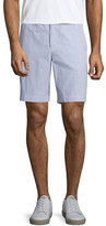 Orlebar Brown Dane 2 Striped Seersucker Shorts, Navy/White