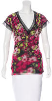 Jean Paul Gaultier Floral Print V-Neck Top