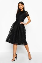 boohoo Zaira Boutique Full Skirted Prom Midi Dress black