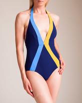Woolrich Flagpole Swimwear Jade Plunge Swimsuit