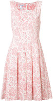 Oscar de la Renta floral print pleated dress