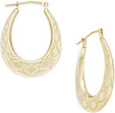 Macy's Patterned Oval Hoop Earrings in 10k Gold