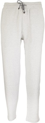 Brunello Cucinelli Lightweight Stretch Cotton Sweatpants With Shiny Tab
