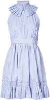 Alexis stripe flared dress