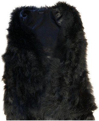 Twin-Set Twin Set Black Fur Coat for Women