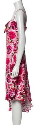 CARMEN MARCH Floral Print Long Dress Red