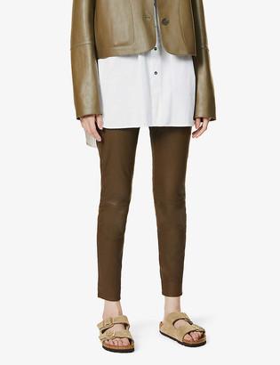 Vince Skinny high-rise leather leggings