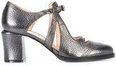 Fendi cut-out pumps - women - Leather - 36