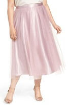 Alex Evenings Plus Size Women's Full Tea Length Skirt