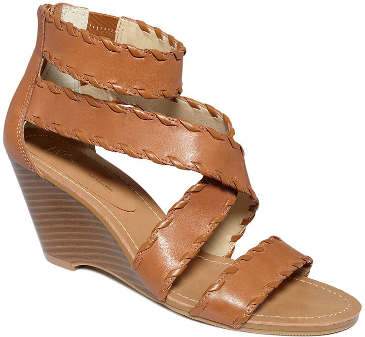 INC International Concepts Shoes, Bahia Wedge Sandals