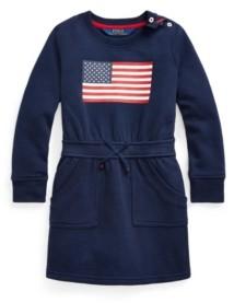 Polo Ralph Lauren Toddler and Little Girls Flag Blend Fleece Dress