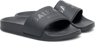 Balmain Kids Logo rubber slides