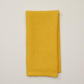 Indigo Solid Linen Napkin Mustard Set Of 4
