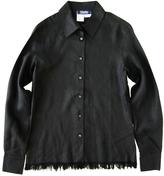 Max Mara Black Linen Top