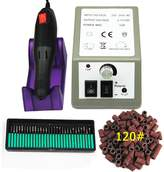 Coscelia Nail Art Tools Drill Professional Electric Machine Manicure Pen Pedicure Kit+30pcs Nail Drill Bit+100pcs Sanding Bands 120''