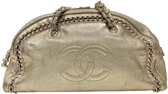 Chanel Gold Leather Handbags