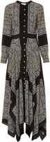 Altuzarra Winnie silk-habotai paisley-print dress
