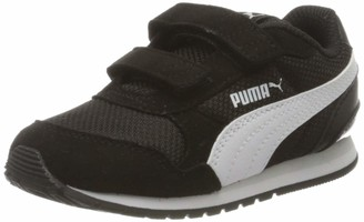 Puma Kids' St Runner V2 Mesh V Inf Sneakers Black Black White/Gray Violet 06 4.5 UK Child 21 EU