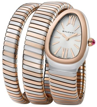 Bvlgari Serpenti Tubogas Rose Gold & Stainless Steel Double Twist Watch