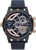 Police Police Scythe Blue Multi Dial Blue Leather Strap Gents Watch
