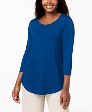 JM Collection Scoop-Neck Top, In Regular and Petite, Created for Macy's