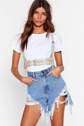 Nasty Gal Womens Don't Let It Go to Waist Harness Belt - Nude