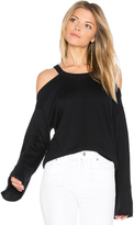 Feel The Piece Vine Cold Shoulder Top