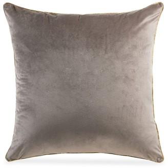 Callisto Home Metallic Piped Velvet Pillow