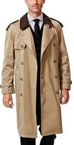 Haggar Men's Classic-Fit Double-Breasted Trench Coat