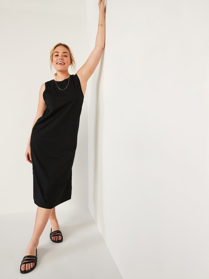 Thumbnail for your product : Old Navy Loose Vintage Sleevleess T-Shirt Midi Shift Dress for Women