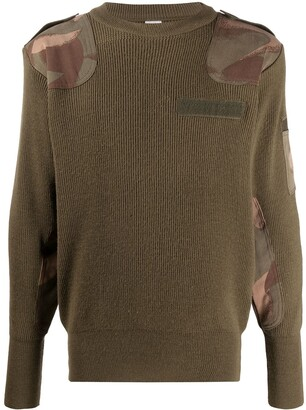 Myar Camouflage-Patch Ribbed Sweater