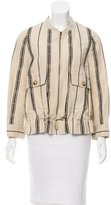 Tory Burch Striped Rib Knit Jacket