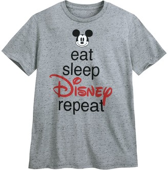 Disney Mickey Mouse ''Eat Sleep Disney'' T-Shirt for Men