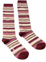 Missoni Gm00cmd5219 0001 Green/burgundy Boot Socks.