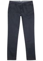 Moncler Dark Blue Stretch Cotton Chinos