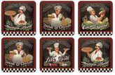 Pimpernel Chef's Specials Square Coasters (Set of 6)