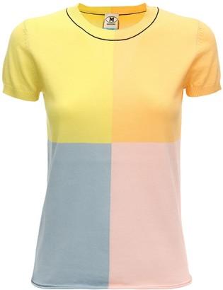 M Missoni Color Block Cotton Knit Top
