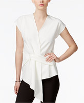 Bar III Draped Asymmetrical Top, Only at Macy's