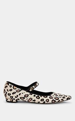 Manolo Blahnik Women's Kuloglu Calf-Hair Ballet Flats - Leopard Pony